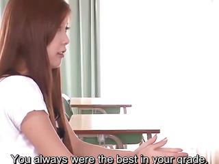 Subtitles  Asian teen Nozomi Nishiyama sucking and fucking