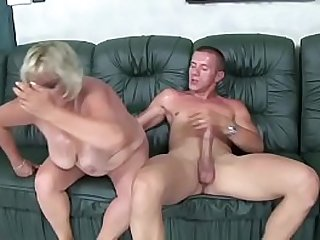 Slutty Gyulane gets her hairy pussy fucked by young dude