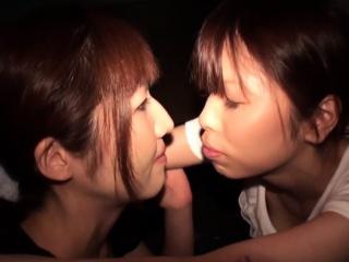 Asian lesbians toying