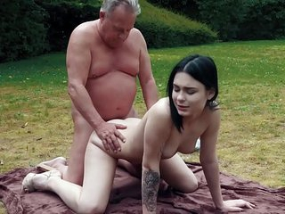 Horny Young Babe Finally Tastes Her Stepdad Cock and gives him a deepthroat blowjob