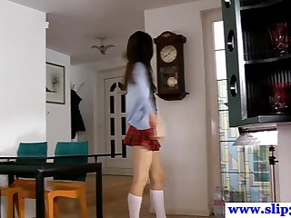 Casted polish schoolgirl amateur loves to gag