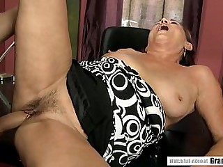 Mature boss fucks young stud